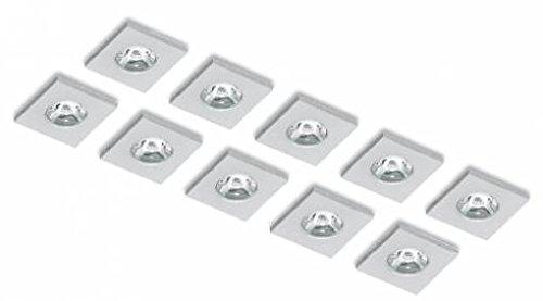 Spot Led Incasso.Kit 10 Faretti Mini Spot Led Incasso Quadrati In Alluminio