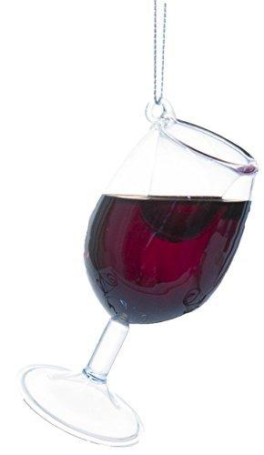 Ganz Happy Merlot 4 Inch Merlot Wine Glass Ornament w/ Faux Wine