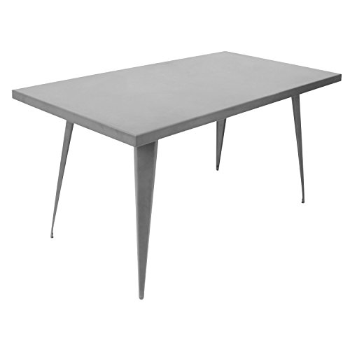 WOYBR DT-TW-AU6032 GY Metal Material Austin Dining Table (Lumisource Modern Table)