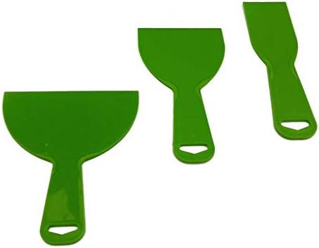 PETSOLA 3pcプラスチックパテナイフスクレーパーセットヘラスプレッダー壁紙クリーニングツール