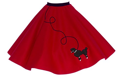 Hip Hop 50s Shop Adult Poodle Skirt Red M/L (Homemade Costumes For Plus Size Women)