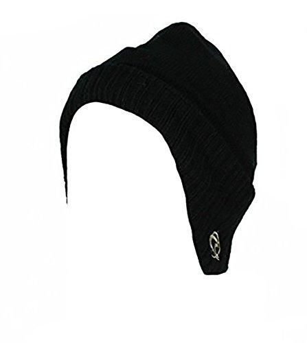 Gorro negro Glamour de punto Girlz para hombre 6nnxRq