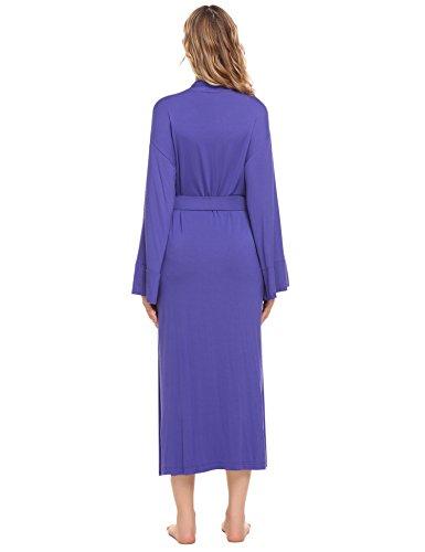 Ekouaer Women s Long Soft Kimono Robes Knit Bathrobe Comfort ... 133debd35