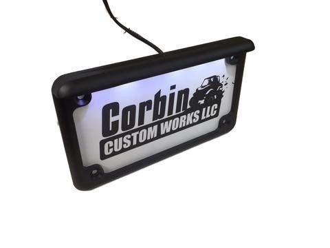 Corbin Custom Works Polaris RZR Led Lighted UTV License Plate Frame 6
