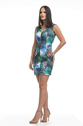 Vestido Clara Arruda Decote V Estampado 50288 - P - Azul