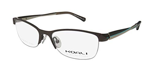 - Koali By Morel 2667s For Ladies/Women Cat Eye Half-rim Flexible Hinges Stainless Steel Eyeglasses/Glasses (48-16-135, Brown/Sand / Turquoise)