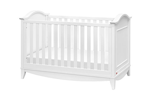 Franklin and Ben Arlington 3-in-1 Convertible Crib With Toddler Bed Conversion Kit, White