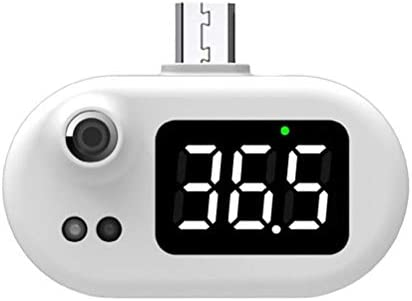 YEKKU Digitale ThermometerSlimme Thermometer Draagbare Mini Mobiele Telefoon Thermometer USB Thermometer Contactloze Infrarood Detecteren De Temperatuur