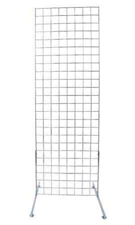 Includes Grid Panel and 2 Grid Legs 2 x 6 Foot Chrome Standing Grid Screen