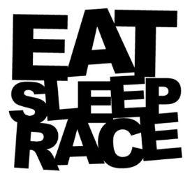 Eat Sleep Race Bumper Sticker Car Van Bike Sticker Decal Free P P