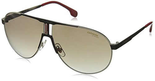 Carrera Men's Ca1005s Aviator Sunglasses, Black Gold/Brown Gradient, 66 - Carrera Sunglass For Men