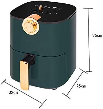 haozai Friteuse Électrique sans Huile3.5L,Commande par Bouton, Mémoire De Mise Hors Tension Automatique, Friteuse À Air Chaude sans BPA,1000 W, Vert