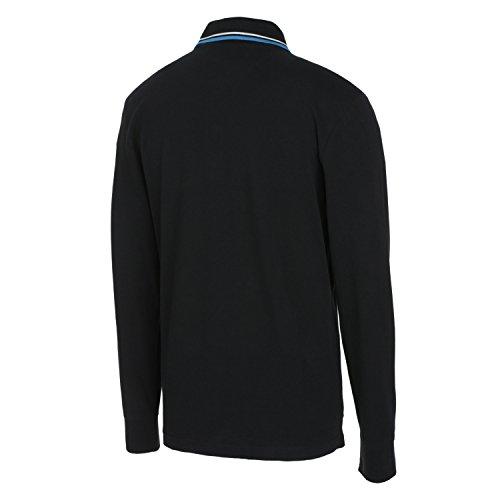 Diadora Sport 102161300 Pq Ls Polo para hombre Negro