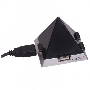 Pyramid Power 4 Way USB Game Controller Home Desk Office Space Charger Venom Port Hub for Kids Adults XBOX One
