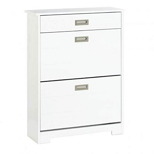 Two-Tier Shoe Rack Cabinet with Drawer (Drawer Shoe Cabinet)