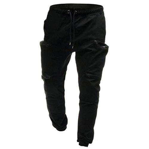 Pantalons Sac Avec Sweat Pants Amayay Pantalon Survêtement Sport De Noir Hommes Simple Cordon Sacs Style Main À qwHPZEwWOf