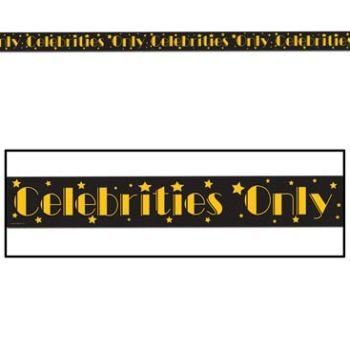 Beistle 66108 Celebrities Only Party Tape, 3-Inch by 20-Feet]()