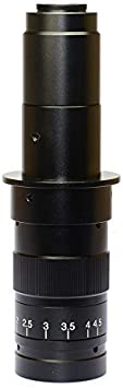 HAYEAR Monocular Max 180x Zoom C-Mount Glass Lens Adapter F//Industry Microscope Camera Objective