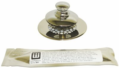 WATCO MANUFACTURING 48750-PP-CP-G Push Pull Retrofit Bathtub Stopper with Grid Strainer, Chrome-Plated ()