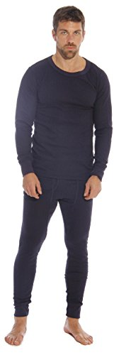 Cold Weather Set - At The Buzzer Thermal Underwear Set for Men, Navy, Medium