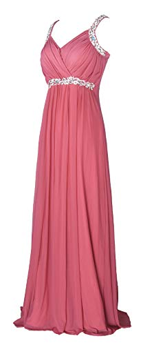 (conail Coco Women's Elegant Royal Formal Dresses Wear Long Wedding Party Gowns (Medium, 30Rpm), Cinnamon Rose Pink)