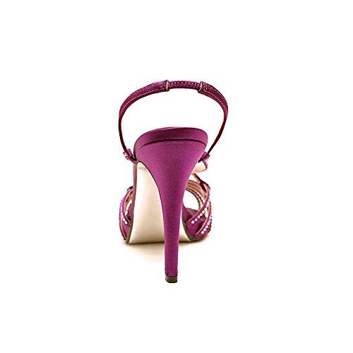 E! Vivre Du Tapis Rouge Femmes Tara Satin Ouvert Toe Sandales De Diapositive Formelle Berry