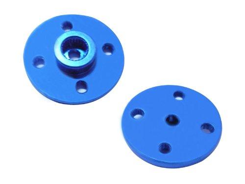 Hobbypower CNC 25t Metal Circle Servo Arm Horn for Jr Tp Hd Servo Mg995 Mg996r Blue(Pack of 2 Pcs)