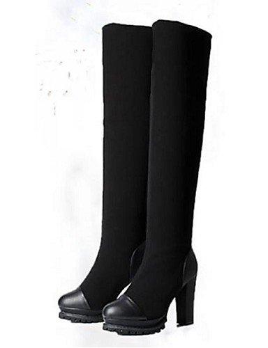 Mujer Black 5 Botas Sintético Uk5 Negro Tacón Robusto Cerrada us7 Eu39 us8 Punta 5 Uk6 Zapatos Casual Cn38 De Xzz Black Cn39 Eu38 awqEUE
