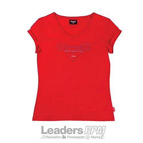 Victory Motorcycle New Women's Diamante Crew Neck T-Shirt, Small, 286379602