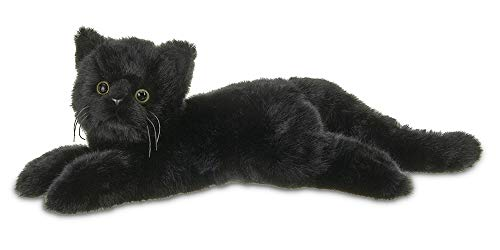 Realistic Cat Whiskers Halloween (Bearington Plush Stuffed Animal Black Cat, Kitten 15)