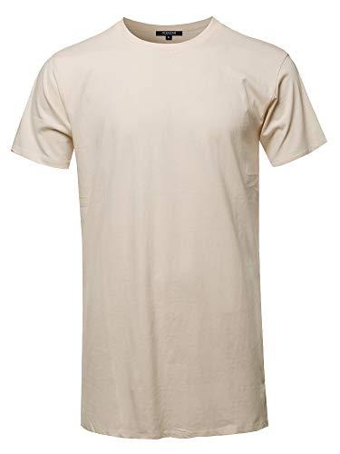 Tan Basic Tee - Youstar Solid Basic Short Sleeve Crew Neck Tee Tan S