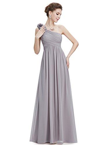 Gris Largo Pretty Ever para Elegante Fiesta Verano Vestido Honor de Cóctel Dama 08237 de Vestido Mujer Boda qaxwFUSOq