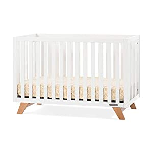 Forever Eclectic by Child Craft SOHO 4-in-1 Convertible Crib, White/Natural (White/Natural)