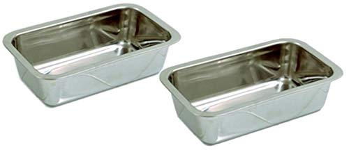 Norpro Stainless Steel Bread Loaf Meatloaf Dessert Pan With A Mirror Finish | Model 3849 (2-Pack)