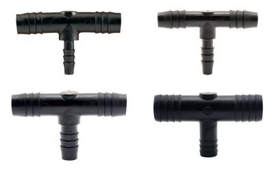 Hydro Flow Barbed Reducer Tee 1/2in to 1/4in (250/Cs) ()