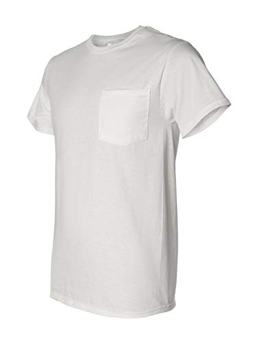 Fruit of the Loom Mens 5 oz. Heavy Cotton HD Pocket T-Shirt (3931P) -White -L (Heavy Cotton Pocket T-shirt)