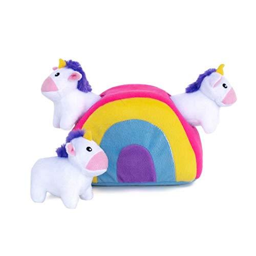 ZippyPaws Interactive Squeaky Unicorns Rainbow product image
