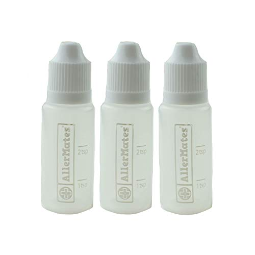 3 Pack of Travel Size, Mini Meds Bottles for Liquid Medicines (Medicine Single)