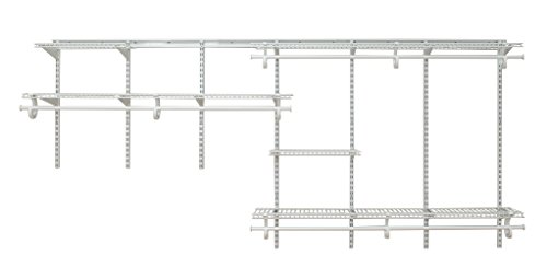 ClosetMaid 2091 ShelfTrack 7Ft. To 10Ft. Adjustable Closet Organizer Kit, White (Closetmaid Organizers)