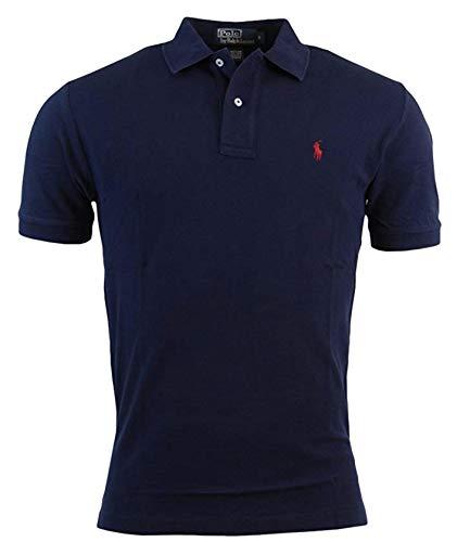 Polo Ralph Lauren Polo Shirt Men's Big and Tall Pique Cotton Polo Shirt (2XLT, Navy) ()