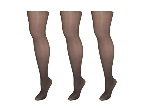 Hanes Alive Womens Nylon Full Support Reinforced Toe Sheer Pantyhose (Pack of 3)