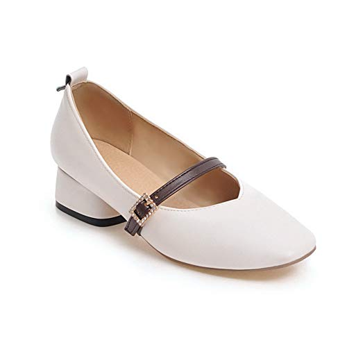 Inconnu Compensées EU MMS06171 Blanc 1TO9 Femme Blanc Sandales 36 5 rqwRrtB7z