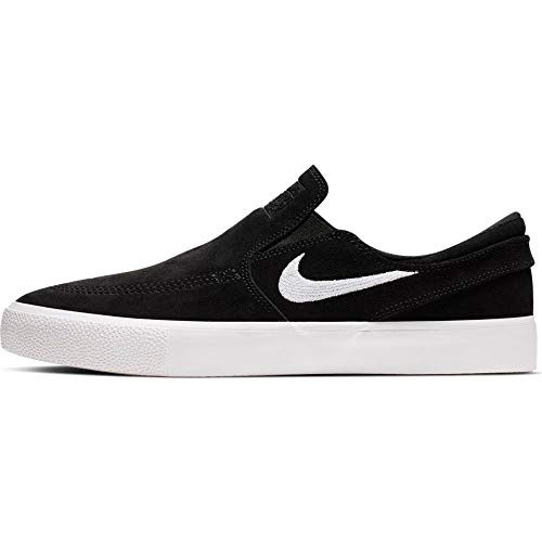Nike SB Zoom Janoski Slip RM Canvas Skateboarding Shoes (10 M US, Black/White-White)