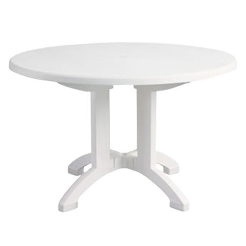 Aquaba 48 Round Outdoor Resin Table, White  Green Ankles Gardening Sup -> White Sand Outdoor Resin Table