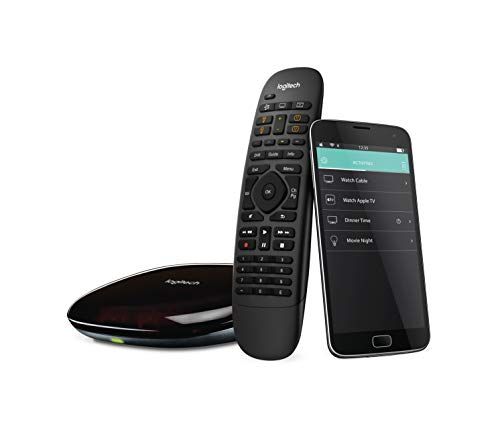 Logitech Harmony Smart Control with Smartphone App and Simple All In One Remote – Black