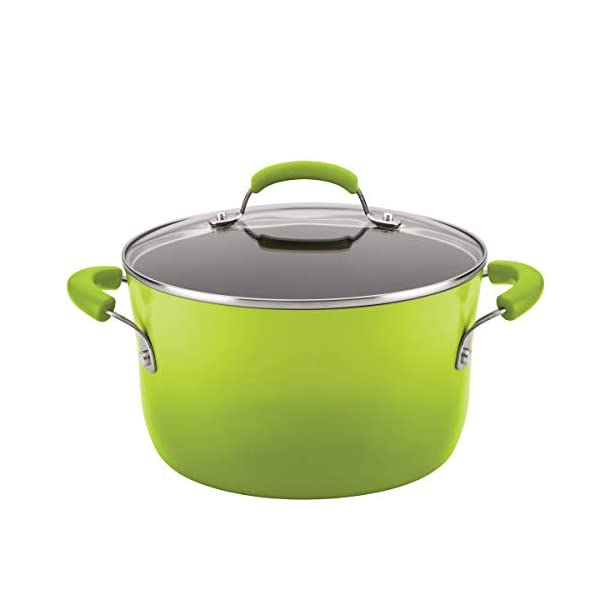 Rachael Ray Brights Nonstick Cookware Pots and Pans Set, 14 Piece, Green Gradient 3