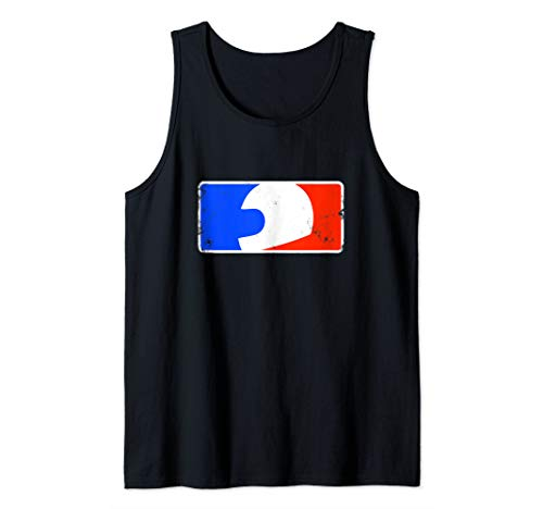 Red white and blue helmet logo: Ride Motorcycles Shirt Tank Top ()