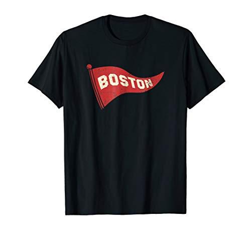 (Boston Vintage Style Pennant Graphic Shirt)
