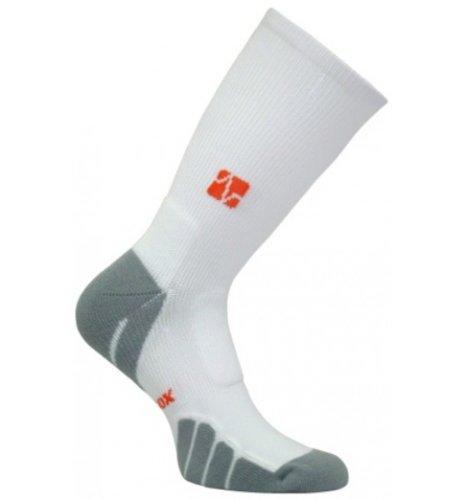 Crew Italian (Vitalsox Tennis, Gym Sports Italian Classic Odor Resistant Silver Drystat Compression Crew Socks, White, Medium VT0810T)