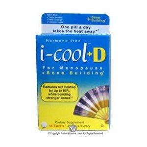 I-cool casher, + D pour la ménopause, la construction des os +, 45 comprimés (lot de 3)